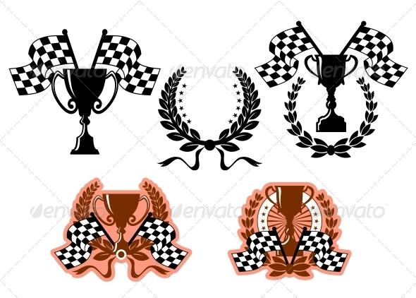 GraphicRiver Sports Emblems and Symbols 5225408