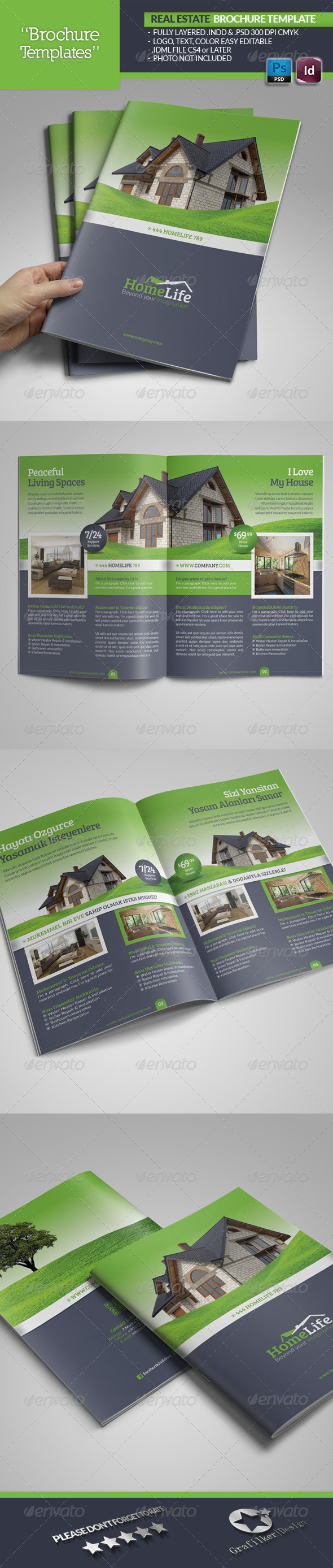 GraphicRiver Real Estate Brochure Template 5225584