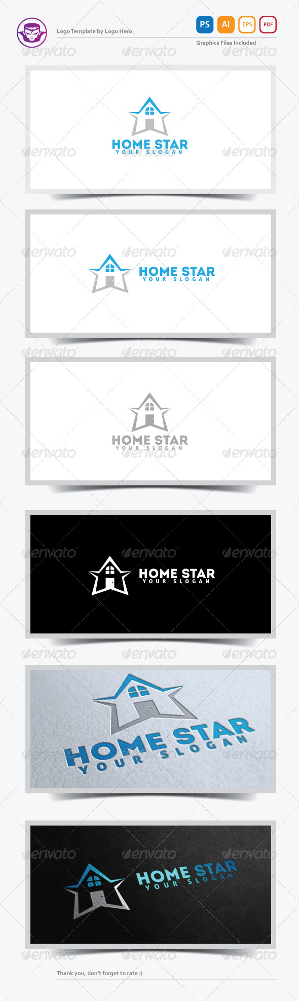 GraphicRiver Home Star Logo Template 5225590