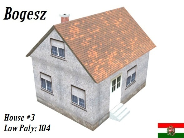 Textured House #3 (Low Poly) - 3DOcean Item for Sale