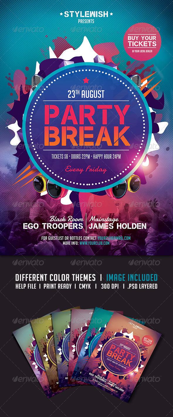 GraphicRiver Party Break Flyer 5226234