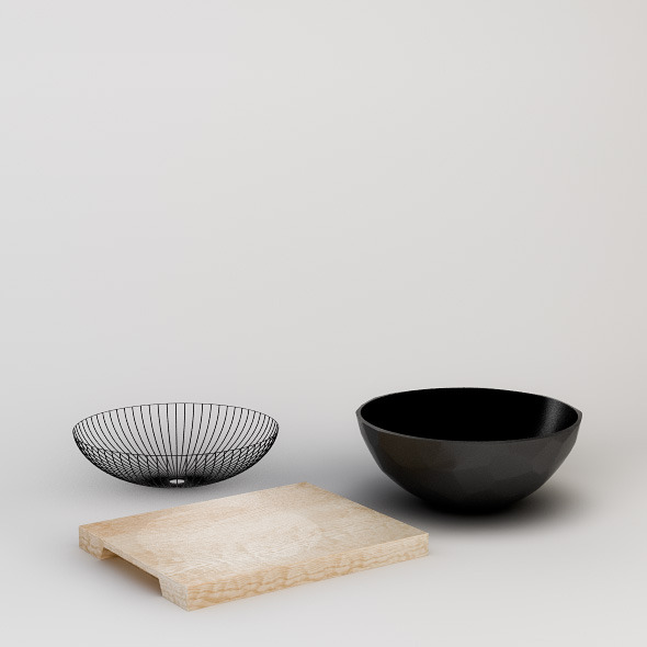 Decorative Bowls Set - 3DOcean Item for Sale