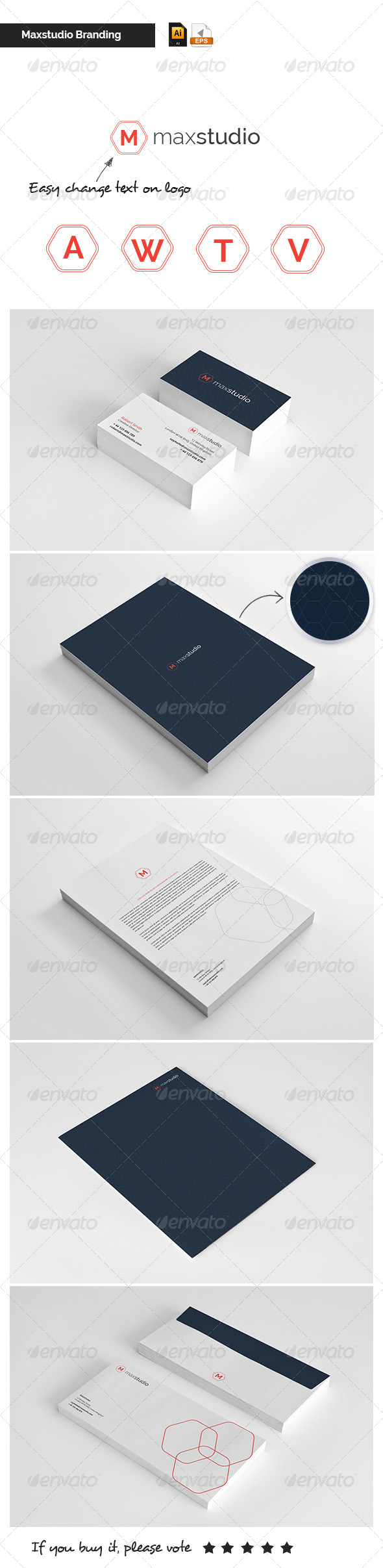 GraphicRiver Stationary & Brand Identity Maxstudio 5226295