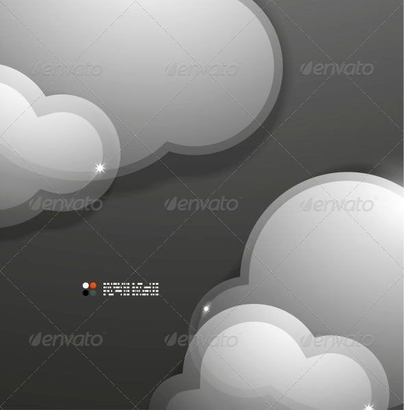 GraphicRiver Glass 3D Clouds Template 5226975