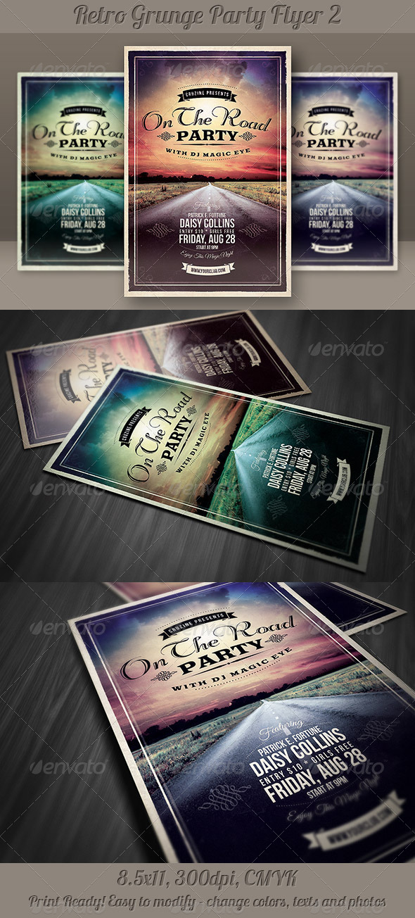 GraphicRiver Retro Grunge Party Flyer 2 5227143
