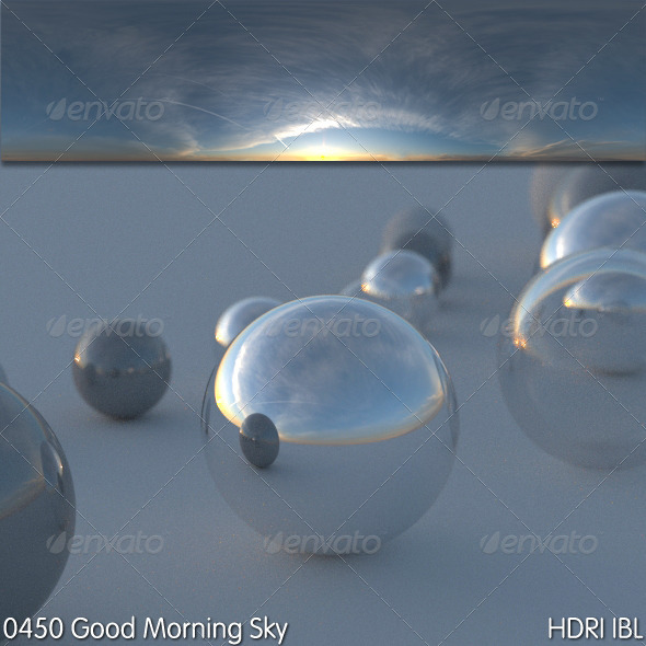 3DOcean HDRI IBL 0450 Good Morning Sky 5227454