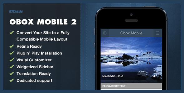 CodeCanyon Obox Mobile 2 WordPress Mobile Plugin 5227516
