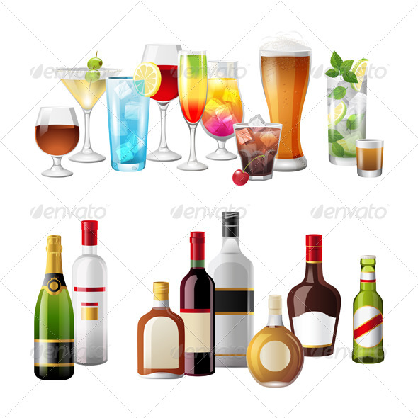 GraphicRiver Borders with Alcohol Drinks 5227796
