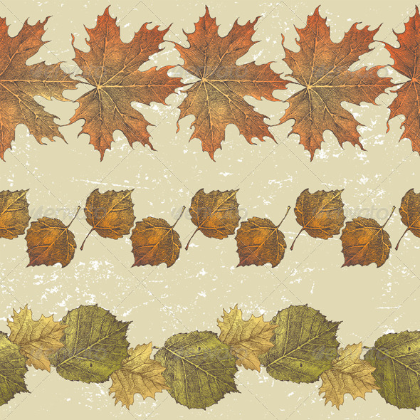 GraphicRiver Autumn Borders 5227909