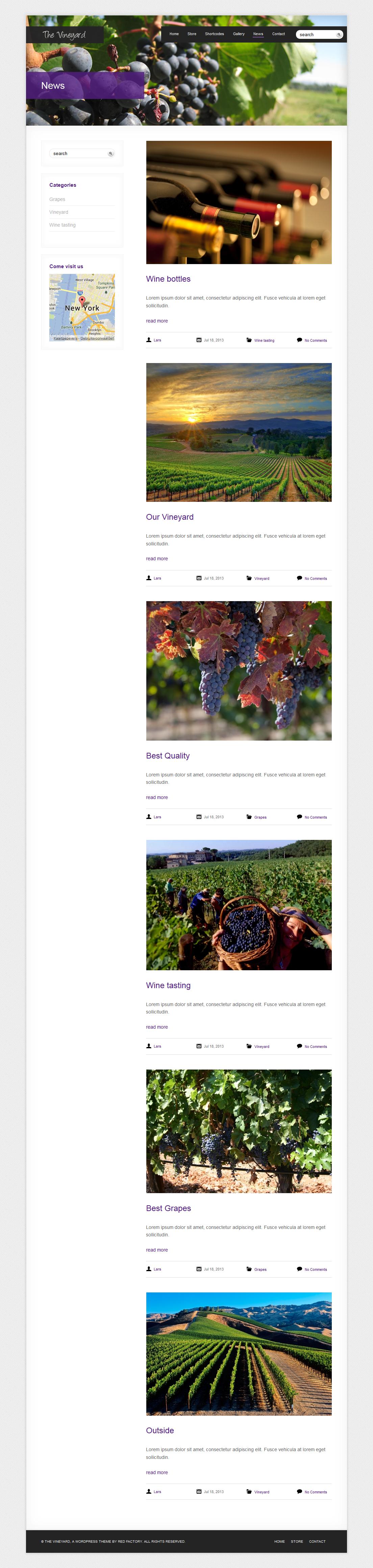 The Vineyard: A WordPress eCommerce Theme