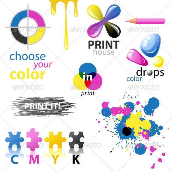 Cmyk Design Elements Graphicriver
