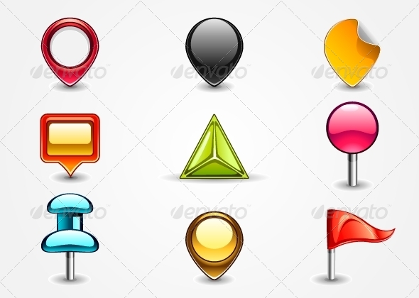 GraphicRiver Colored Navigation Signs 5228036