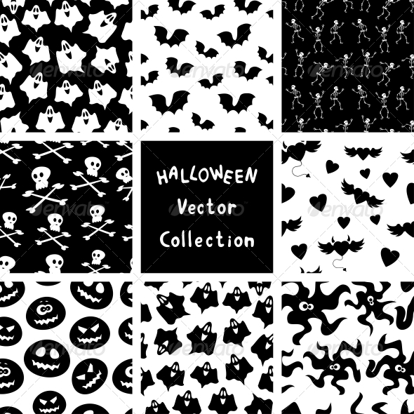 GraphicRiver Halloween Patterns 5228058