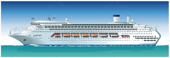 GraphicRiver Highly Detailed Cruise Ship 5228191
