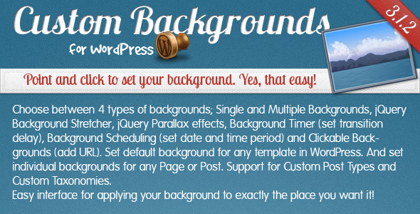 Custom Backgrounds for WordPress - CodeCanyon Item for Sale