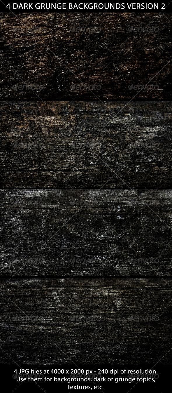 GraphicRiver 4 Dark Grunge Backgrounds Version 2 5228611