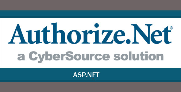 Authorize.Net Payment Gateway for ASP.Net