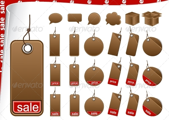 GraphicRiver Brown Cardboard Tags 5228984