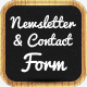 Newsletter & Contact Form on the Chalkboard - GraphicRiver Item for Sale