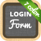Login Form in 7 Color-Styles - GraphicRiver Item for Sale