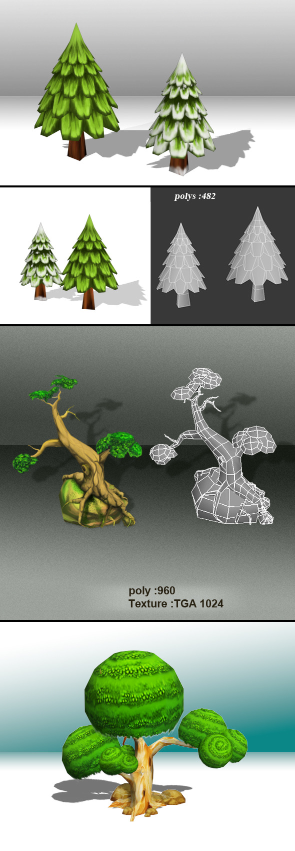 Tree Low Poly-Pack - 3DOcean Item for Sale