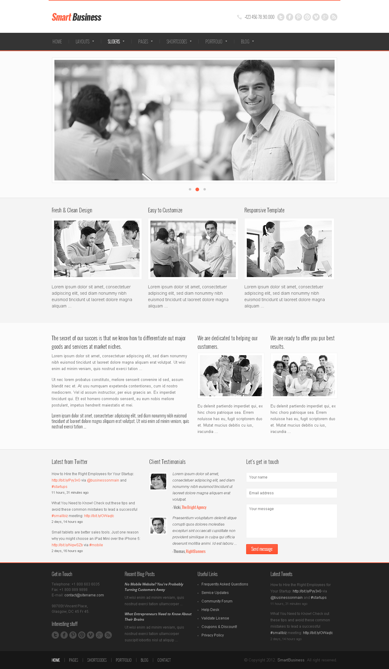 SmartBusiness - Responsive Multi-Purpose WordPress