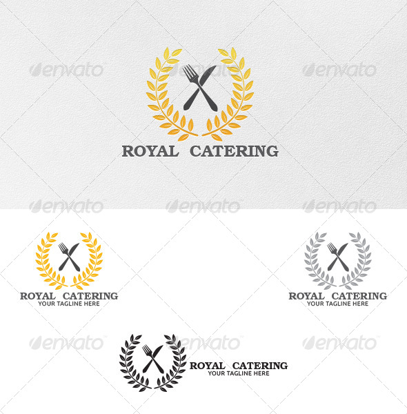 GraphicRiver Royal Catering Logo Template 5229495