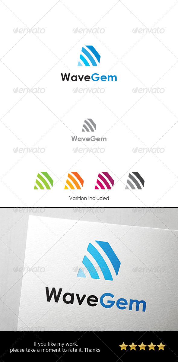 Wave Gem Logo - Objects Logo Templates