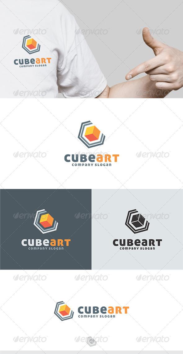 GraphicRiver Cube Art Logo 5224120