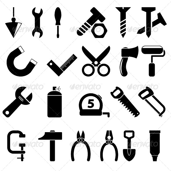 GraphicRiver Tools Icons 5229856