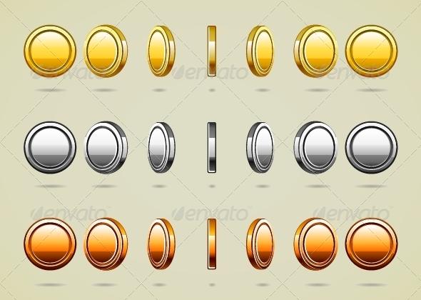 GraphicRiver Rotational Coins 5230027