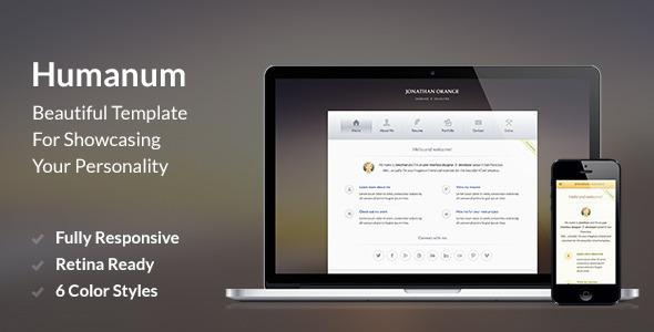 Humanum – Responsive vCard Template (Virtual Business Card)