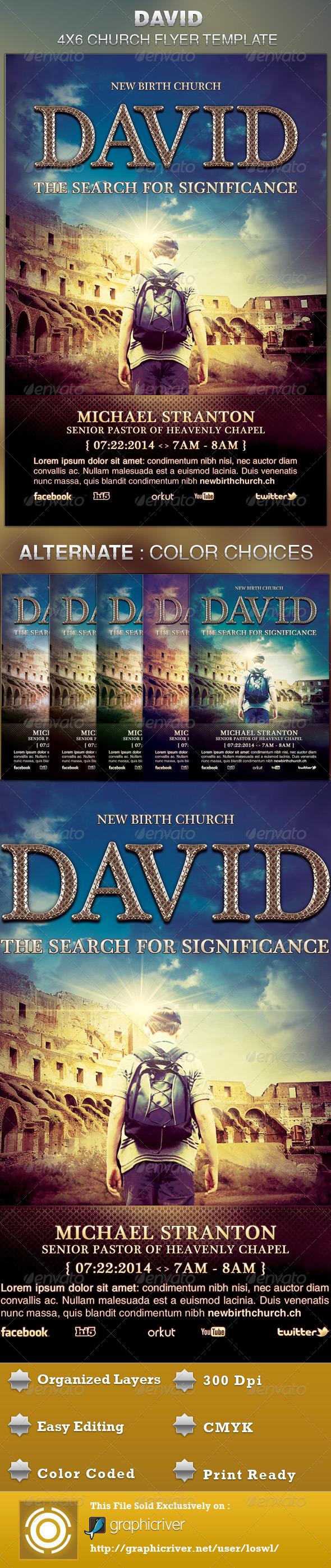 David Church Flyer Template - Church Flyers
