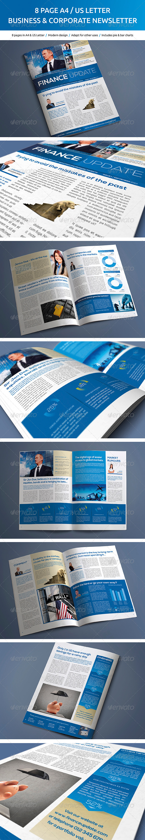 GraphicRiver 8 Page Business and Corporate Newsletter 5230562