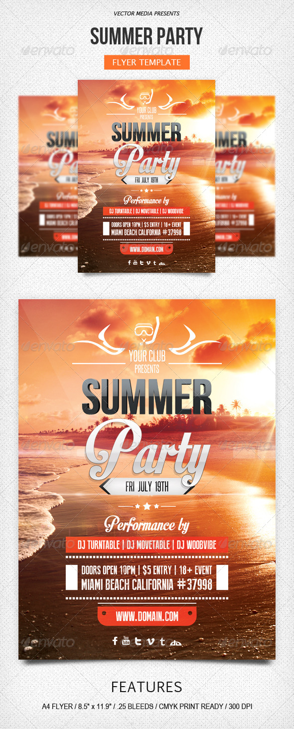 GraphicRiver Summer Party Flyer 5176951