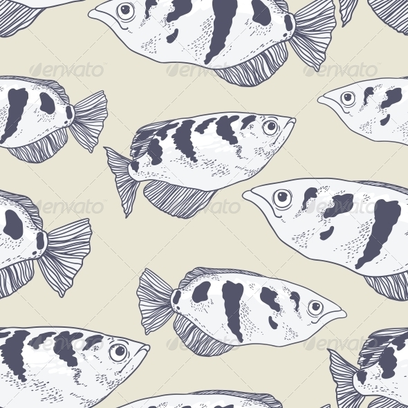 GraphicRiver Seamless Background with Fish 5230744