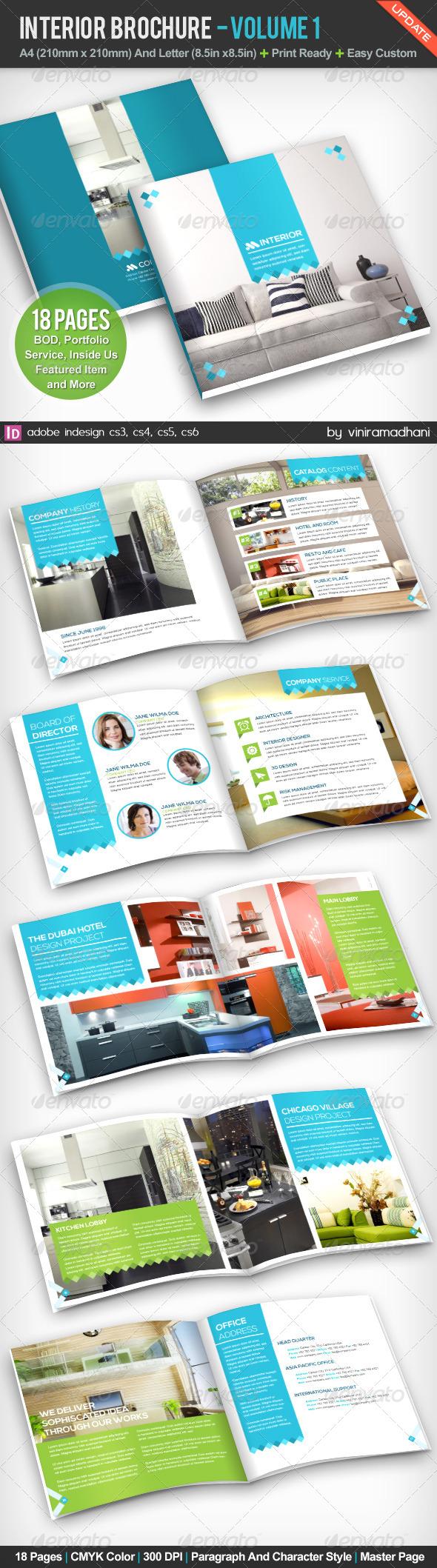 GraphicRiver Interior Achitecture Brochure Volume 1 5230745