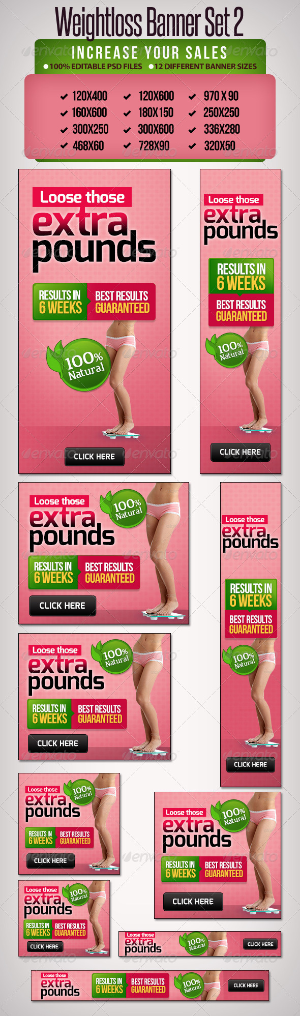 GraphicRiver Weightloss Banner Set 2 12 Google Standard Sizes 5230772