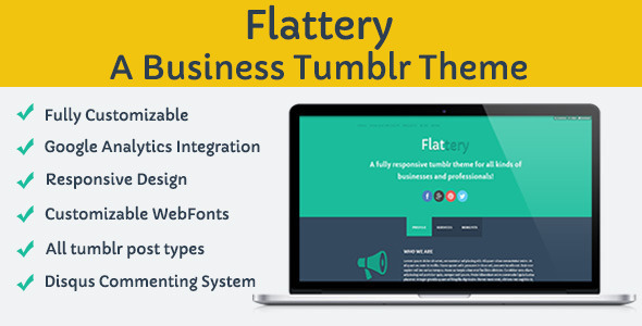 ThemeForest Flattery Tumblr Business Theme 5228641