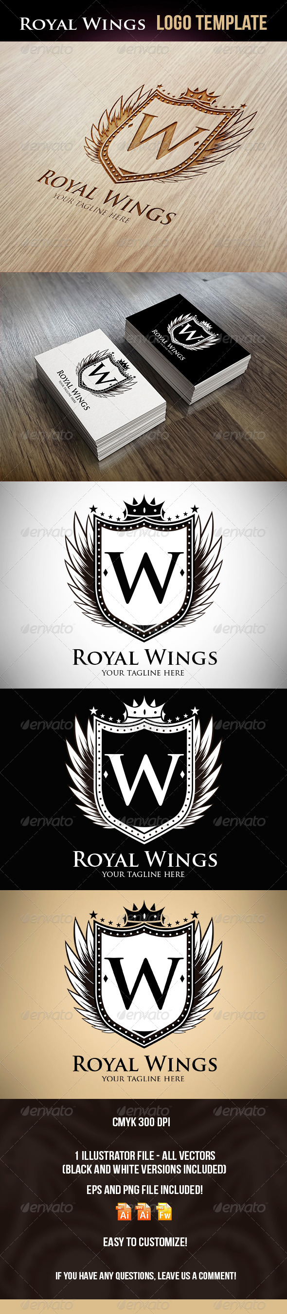 Royal Wings Logo Template - Logo Templates