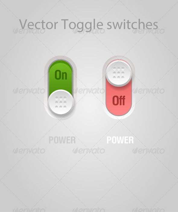 GraphicRiver Vector Toggle Switches 5231440
