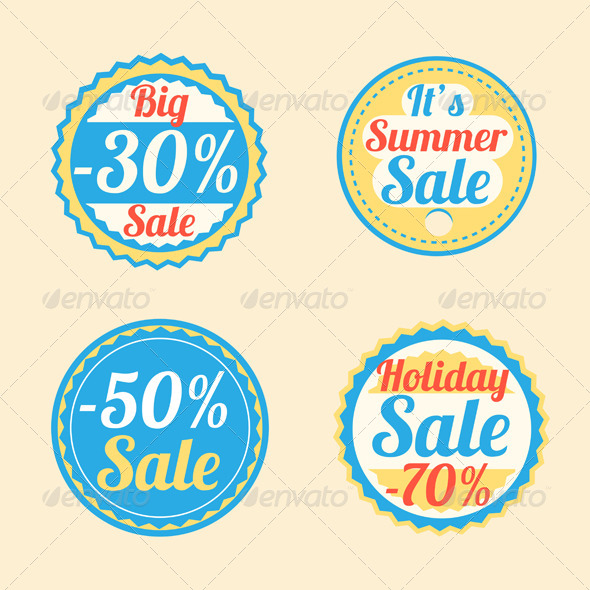 GraphicRiver Summer Sale Stickers 5231555