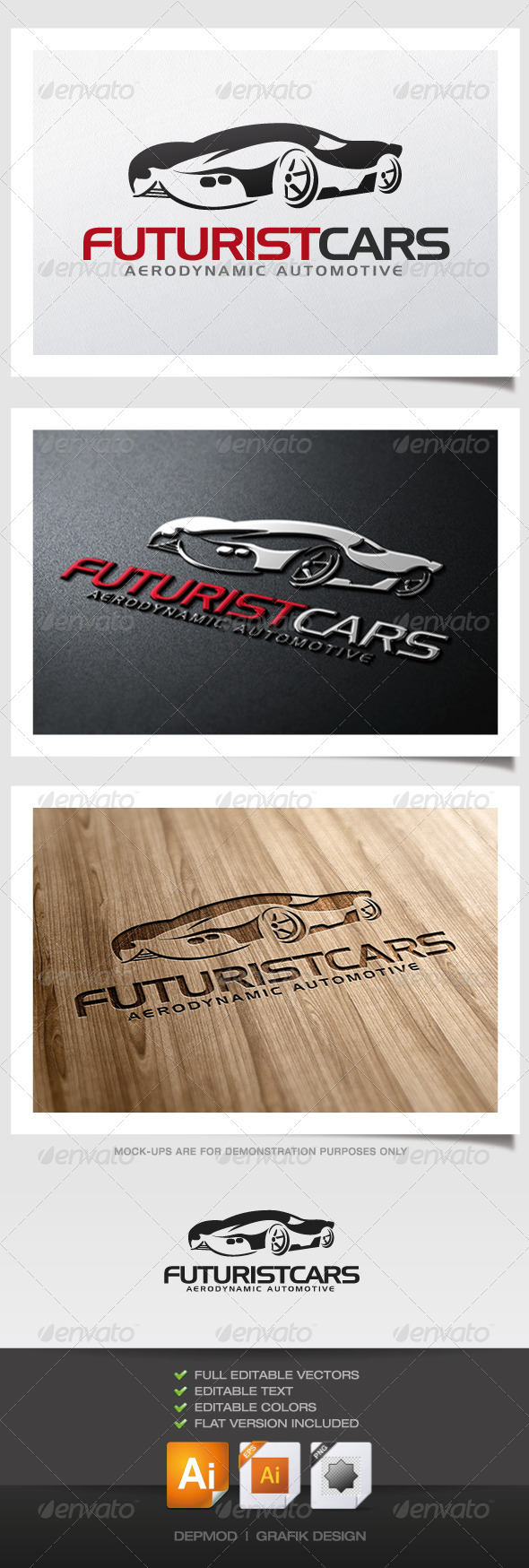 Futurist Cars Logo - Objects Logo Templates