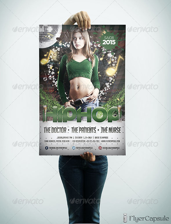 GraphicRiver Hip Hop Party Flyer Template 5231740