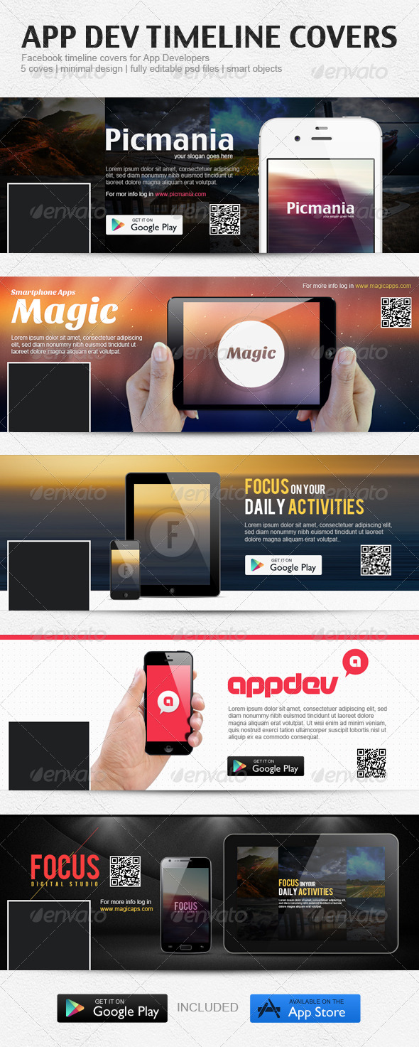 GraphicRiver App Developer FB Covers 5216320