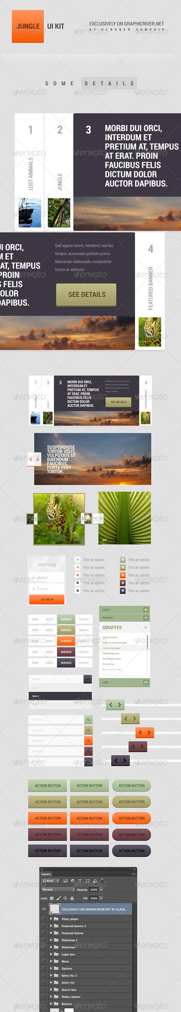 GraphicRiver Jungle UI Kit 5212094