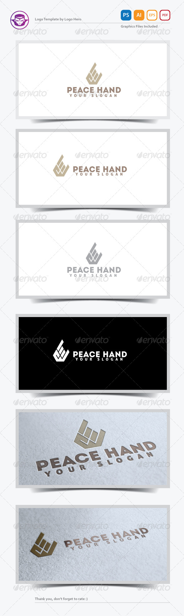 GraphicRiver Peace Hand Logo Template 5232095