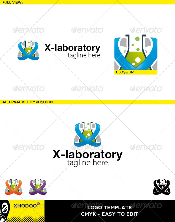 GraphicRiver X-Laboratory Logo 5210207
