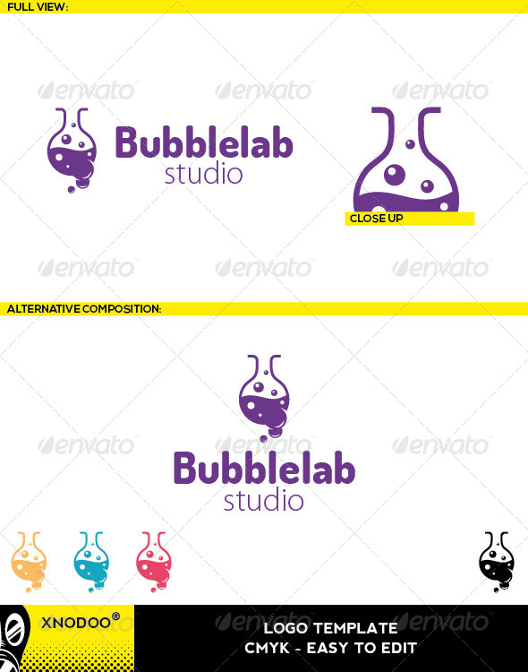 GraphicRiver Bubblelab Logo 5210301