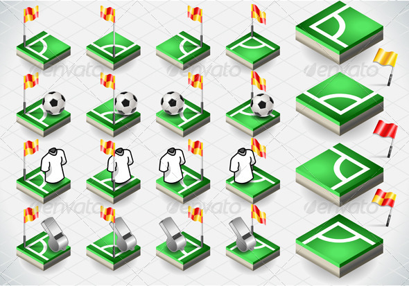 GraphicRiver Set of Soccer Corner and Icons 5232543